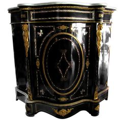 Napoleon III Cabinet with Inlays and Patterns in Engraved Bronze