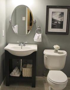 Small bathroom idea - Keep it simple- love the sink!