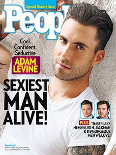 ON NEWSSTANDS 11/22/13: Adam Levine takes the top spot as the Sexiest Man Alive! Plus: Check out hot photos of Justin Timberlake, Chris Hemsworth and more stars in the issue! http://www.people.com/people/package/article/0,,20315920_20757452,00.html