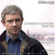2014 EMMY AWARDS (August 25, 2014) ~ Martin Freeman wins Best Supporting Actor (Miniseries/Movie) for SHERLOCK: HIS LAST VOW