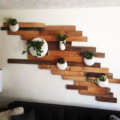 interesting wood wall... shanepowers planters from westelm
