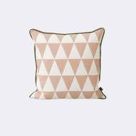 This cushion by Ferm Living is hand printed onto organic cotton. Ferm Living create contemporary designs with a touch of mid-century charm in line with their Scandinavian design heritage. Contemporary Cushions, Minimalist Sofa, Scandinavian Nursery, Luxury Cushions, Deco Design, Modern Colors, Dot And Bo, Beautiful Patterns, Soft Furnishings