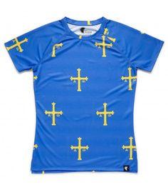 Camiseta running mujer Asturias patria querida Hoopoe Running Apparel