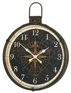The Compass Wall Clock from Urban Barn is a unique home decor item. Urban Barn carries a variety of Clocks and other  products furnishings.