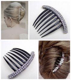 Vintage hair comb celluloid French twist comb by ElrondsEmporium