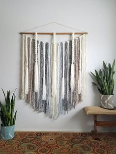 Extra large macramé wall hanging/Woven wall by UpTheWallflower