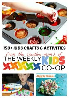 Over 100 Kids Crafts and Activities at The Weekly Kids Co-Op