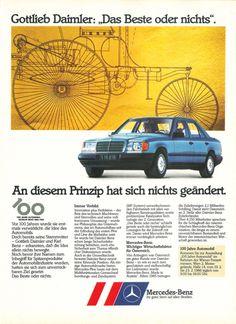 1986 - Mercedes W124 http://www.autorevue.at/mercedes_benz/1986-mercedes-w124.html