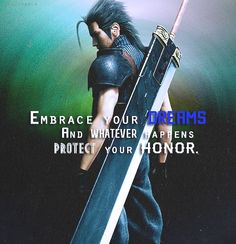Stream Embrace Your Dreams X Zanny Escobars (prod. matrixx) by 💚 SLEEPY HACKER 💚 from desktop or your mobile device Final Fantasy Quotes, Final Fantasy Vii, Zack Fair, People Of Interest, Cloud Strife, Kingdom Hearts, Cool Stuff, Best Games, Memes