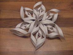 Deze kerstster kan je van papier maken