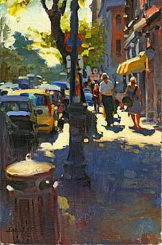 Kim English, Urban Landscape, Abstract Landscape, Landscape Paintings, Landscape Prints, Urban Painting, City Painting, Paintings I Love, Beautiful Paintings
