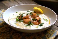 Lemon Garlic Shrimp & Grits