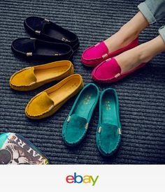 c356709e7ea Womens Suede Flat Shoes Loafers Ladies Ballerina Ballet Slip On Moccasin Casual  Casual Loafers