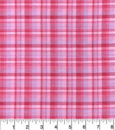 Snuggle Flannel Fabric-Pink Plaid