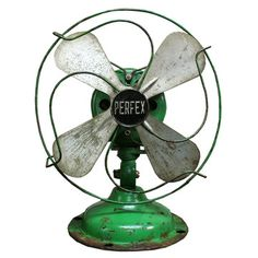 "Aurora Mills: Perfex Fan 8"" Green,"