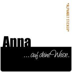 www.aufdeineweise.de · ANNA – SCRAPBOOKING ALPHABET STICKERS · Made in Germany · Format: KLASSIK.