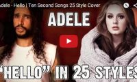 Adele – Hello | Ten Second Songs 25 Style Cover Wow! This must have taken some time! From 'Back Street Boys' to 'Green Day' to 'Thirty Seconds to Mars',  Anthony Vincent of Ten Second Songs  has Adele's hit song 'Hello' covered in 25 different styles…