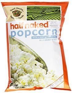 Good Health Half Naked Popcorn with Olive Oil, 4 Ounce (Pack of Popcorn Snacks, Popcorn Bags, Gourmet Popcorn, Gourmet Recipes, Snack Recipes, Pop Corn, Air Popped Popcorn, Good Source Of Fiber, Microwave Popcorn