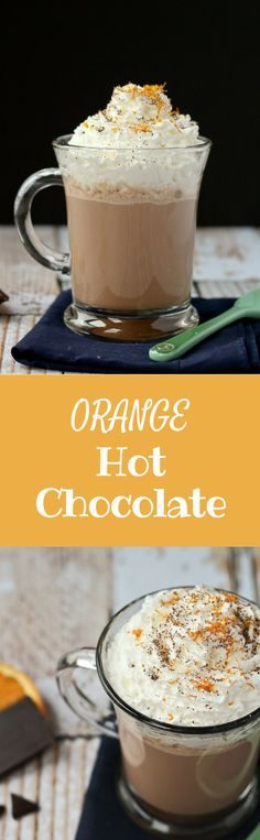 Orange Hot Chocolate Recipe - Get it on RachelCooks.com: