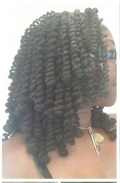 Pipe Cleaner Loc curls. To learn how to grow your hair longer click here - http://blackhair.cc/1jSY2ux