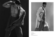 Model Brad Alphonso with Wilhelmina NYC shot by Hans Eric Olson and styled by Marc Anthony George. Louis Vuitton, Siki Im and Dries Van Noten.