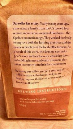 Our Coffee Mission is changing lives!