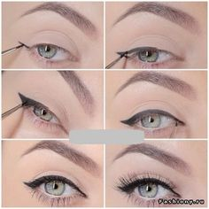 Уроки макияжа / макияж глаз обучение в картинках