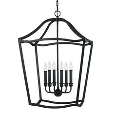 The Yarmouth is an elegant and clean interpretation of traditional lanterns. The square arm stock is turned 45 degrees so the narrow edge is facing out to catch the light, and an arch crowns the top of each graceful silhouette.