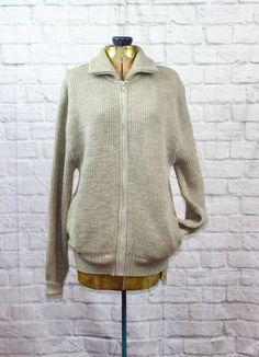 29f7e45c10 Vintage Pendelton Wool Cardigan Sweater Heather Gray Large