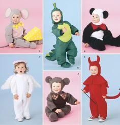 CHILDREN'S HALLOWEEN Costume Pattern - Dragon Angel Devil Mouse Panda