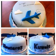 Moving/going away cake Bon Voyage Cake, Going Away Cakes, Goodbye Cake, Cakes For Teenagers, Welcome Home Cakes, Farewell Cake, Planes Cake, Boat Cake, Travel Cake