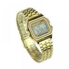Cheap gift gifts, Buy Quality gift men directly from China gift women Suppliers: Vintage Womens Men Stainless Steel Digital Alarm Stopwatch Wrist Watch Golden watch new trendy watches Relojes Mujer gift Mens Luxury Brands, Digital Wrist Watch, Casual Watches, Trendy Watches, Patek Philippe, Luxury Watches For Men, Stainless Steel Watch, Vintage Watches, Fashion Watches