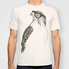 Hawk with Poor Eyesight T-shirt by Phil Jones