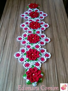 Flower Centerpiece Pattern ~ Crochet And Patterns - Diy Crafts Art Au Crochet, Crochet Home, Crochet Motif, Christmas Crochet Patterns, Holiday Crochet, Crochet Table Runner, Crochet Tablecloth, Crochet Dollies, Crochet Flowers