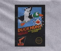 Nintendo Duck Hunt Retro Gamer Gaming Shooter Gameboy NES Classic 8 bit Tee Tshirt T-Shirt