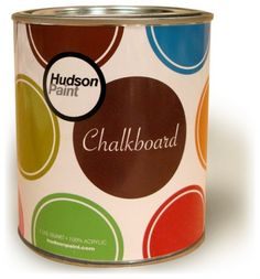 Can't wait to try this!!! I have some ideas up my sleeve... Chalk board paint of many colors!  Great for artists, kid's rooms, crafting