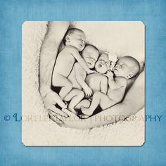 Newborn Quadruplets/Quads Multiples Posing Ideas