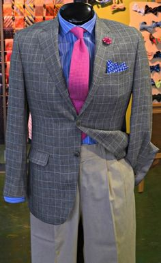 FLIP's Pick of the Day: Samuelsohn sport coat (40R, $228.98), Brooks Brothers shirt (15*33, $38.98), Bills Khakis slacks (34, $48.98), FLIP tie ($38.98), FLIP pocket square ($24.98) & Hook & Albert lapel flower ($26.00)! Stop by to see these items, plus many more, today & only @  FLIP - The Premiere Men's Consignment Store