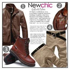 """""""Newchic 12"""" by aida-ida ❤ liked on Polyvore featuring men's fashion and menswear"""