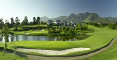 Fancourt - 2 Night Summer Golf Packages - Positioned on 613 hectares in the magnificent Garden Route, just outside George, Fancourt is South Africa's premier lifestyle estate with mountains, indigenous forests and the warm Indian Ocean in close . Public Golf Courses, Best Golf Courses, Coeur D Alene Resort, Golf Course Reviews, International Holidays, Golf Tour, Senior Trip, Out Of Africa, Outdoor Pool