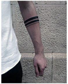 Thin Tattoo, Black Band Tattoo, Band Tattoos For Men, Wrist Band Tattoo, Forearm Band Tattoos, Tattoos For Guys, Black Tattoos, Tribal Band Tattoo, Small Tattoo