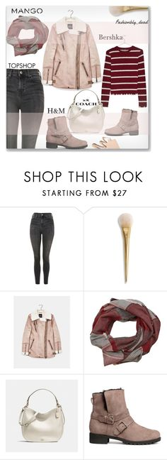 """#style"" by qroxp ❤ liked on Polyvore featuring Topshop, Bershka, MANGO, Coach and H&M"