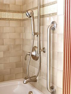Add Function--Make taking a bath and maintaining the tub more convenient by installing a handheld sprayer. It eases chores such as rinsing hair and cleaning the tub.
