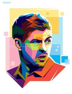 Steven Gerrard in WPAP by Aryakuza