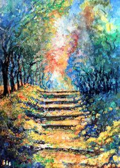 A lépcső (Levay61) - Meska.hu Techno, Artwork, Diy, Painting, Work Of Art, Auguste Rodin Artwork, Bricolage, Painting Art, Artworks