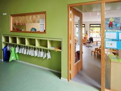 STOL architecten (Project) - Brede School - PhotoID #310830 - architectenweb.nl New Classroom, Classroom Design, Classroom Organization, Learning Spaces, Learning Environments, Learning Centers, Daycare Cubbies, Childcare Rooms, Kindergarten Design