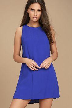 209a3571623 Lulu s Women s Royal Blue Shift Dress Size L Sassy Sweetheart Sleeveless 18   Lulus  ShiftDress