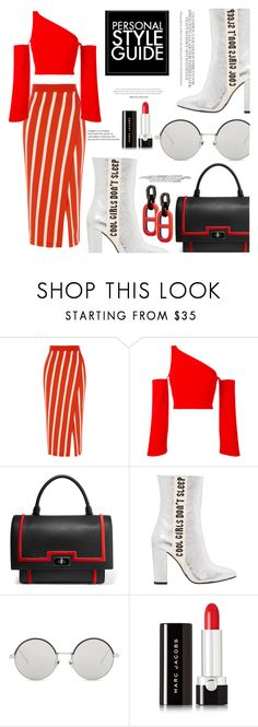 """""""OOTD"""" by gigi-lucid ❤ liked on Polyvore featuring Thierry Mugler, Givenchy, Guide London, Havva, Kerr®, Linda Farrow, Marc Jacobs, outfit, red and stripes"""