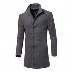 f06b16e3a6cfe Shirts · New vermers Mens Trench Coat Clearance Sale Men Casual Jacket Warm  Winter Long Outwear Button Smart
