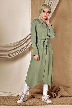 Hijab Fashion, Pretty Dresses, Shirt Dress, Casual, Jackets, Shirts, Outfits, Hijab Dress, Islamic Clothing
